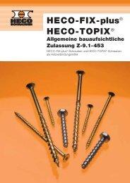 Allgemeine bauaufsichtliche Zulassung Z-9.1-453 - Heco
