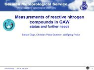 Measurements of reactive nitrogen compounds in GAW: status - WMO