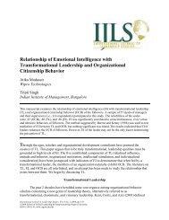 Relationship of Emotional Intelligence with ... - Regent University