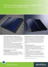 Schüco CTE 319 CH Auf- und Flachdachmontage - Zon Energie