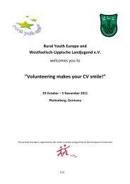 "Volunteering makes your CV smile!"" 29 October – 5 ... - WLL"