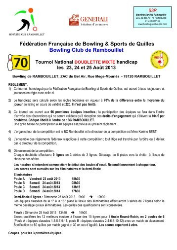 Rambouillet - Fédération française de bowling et de sport de quilles