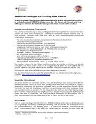 Rechtliche Hinweise zur Website-Gestaltung - WLO