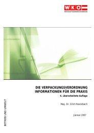die verpackungsverordnung informationen für die praxis - Wien