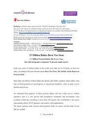 15 Million Babies Born Too Soon - World Health Organization