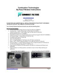 Combustion Technologies By-Pass Filtration Instructions