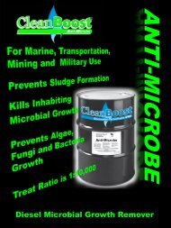 Diesel Microbial Growth Remover - Combustion Technologies