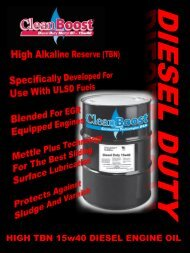 HIGH TBN 15w40 DIESEL ENGINE OIL - Combustion Technologies