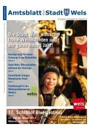 Amtsblatt der Stadt Wels Dezember 2011 (9 MB