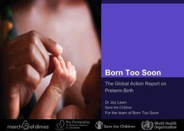 Born Too Soon - World Health Organization