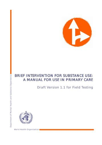 Brief Intervention for Substance Use - World Health Organization