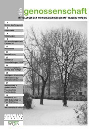 genossenschaft - Wohnungsgenossenschaft Trachau-Nord eG