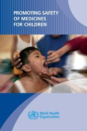 Promoting safety of medicines for children - World Health Organization