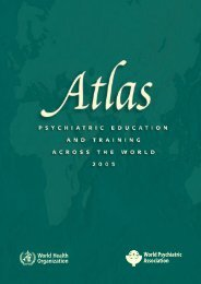 Atlas: Psychiatric Education - World Health Organization