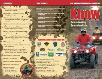 ATV Safety Brochure - Durham Regional Police Service