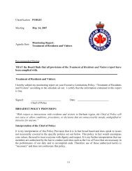 Treatment of Residents and Visitors - Durham Regional Police Service