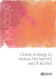 Global strategy to reduce the harmful use of - World Health ...