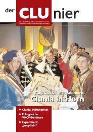 der CLUnier 1/2002 - KMV Clunia Feldkirch