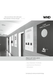 SPEAKERS - WHD