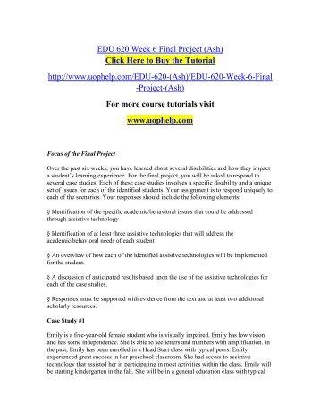 EDU 620 Week 6 Final Project.pdf