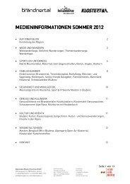Medieninformationen 2012 - PDF - Urlaub in der Alpenregion Bludenz