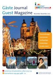 Gäste Journal Guest Magazine - Urlaub Lutherstadt Wittenberg