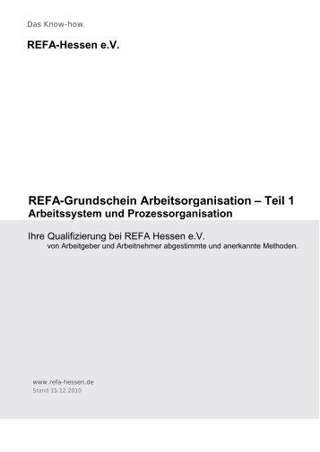 Praktische Hinweise - REFA Hessen eV
