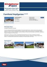Familotel Hopfgarten **** - Ferienregion Hohe Salve