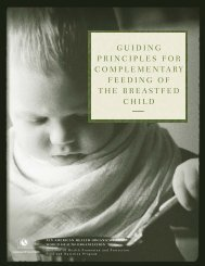 Guiding Principles for Complementary Feeding of the Breastfed