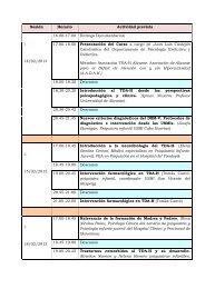 Programación Seminario Teórico - Blogs UA - Universidad de Alicante