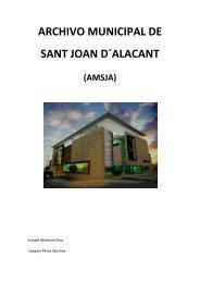 ARCHIVO MUNICIPAL DE SANT JOAN D´ALACANT - Blogs de la UA
