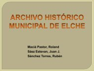 Archivo Histórico Municipal de Elche - Blogs UA