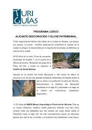 PROGRAMA LÚDICO ALICANTE DESCONOCIDO Y ELCHE PATRIMONIAL