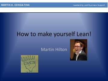 How to make yourself Lean!