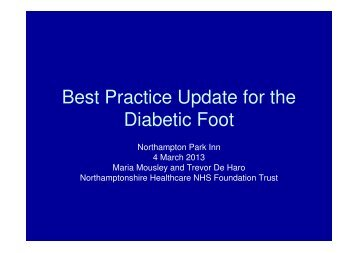 Best Practice Update for the Diabetic Foot
