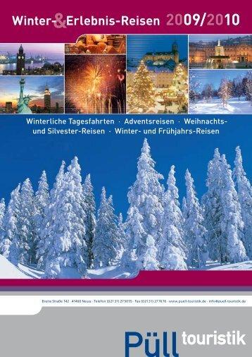 Winter- Erlebnis-Reisen 2009/2010 - Püll Touristik Novesia-Tours ...