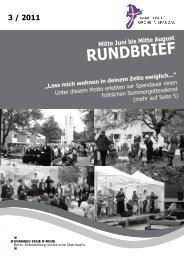 Mitte Juni bis Mitte August RundbRief 3 / 2011 - Kirchenkreis Spandau