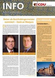 Balzer als Bezirksbürgermeister nominiert - CDU Reinickendorf
