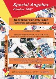Schweizer Frei- und Werbemarken Serien - Jean-Paul Bach AG ...