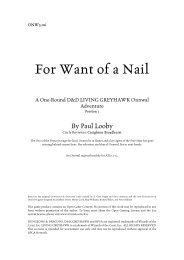 ONW3-06 - For Want of a Nail - Your website is up and running!