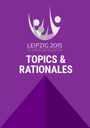TOPICS & RATIONALES