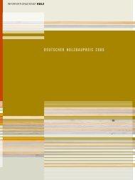 DEUTSCHER HOLZBAUPREIS 2009 - Fachbereich Architektur und ...