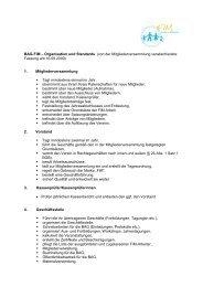 BAG-FiM – Organisation und Standards (von der ... - Bag-fim.de