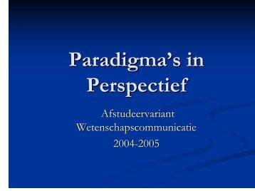 Paradigma's in Perspectief