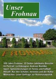 100 Jahre Frohnau: 10 Seiten Jubiläums-Berichte ... - CDU Frohnau