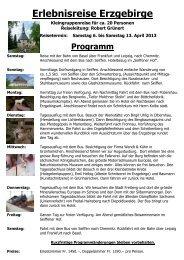 Erlebnisreise Erzgebirge - Holz-Art-Bern