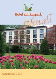 Ausgabe 01-2012 - Hotel am Kurpark