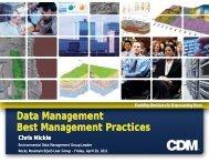 Data Management Best Management Practices