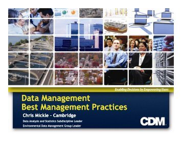 Data Management Best Management Practices