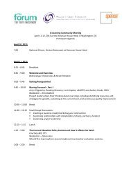 Agenda, participant list, bios – PDF - The Forum for Youth Investment